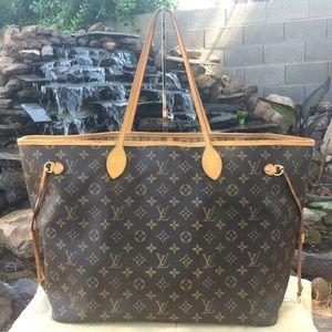 Louis Vuitton Neverfull GM Beige Monogram Tote Bag